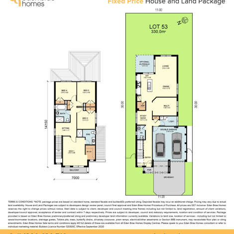 Lot 53 Aqueduct St Leppington (Floorplan)